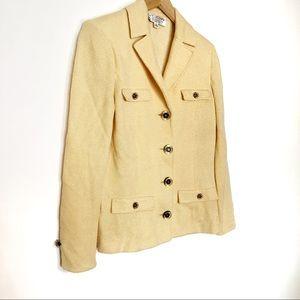 ▫️ST.JOHN Collection▫️yellow blazer suit